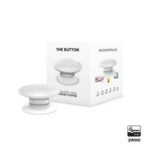 Розумна кнопка Fibaro The Button, Z-Wave, 3V ER14250, біла