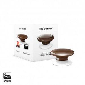 Розумна кнопка Fibaro The Button, Z-Wave, 3V ER14250, коричнева