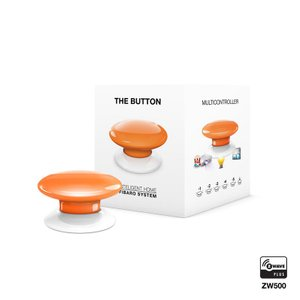 Розумна кнопка Fibaro The Button, Z-Wave, 3V ER14250, памаранчева